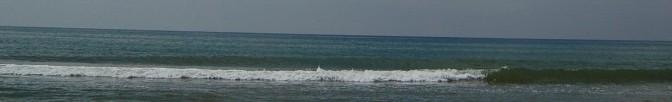 Slanted ocean.
