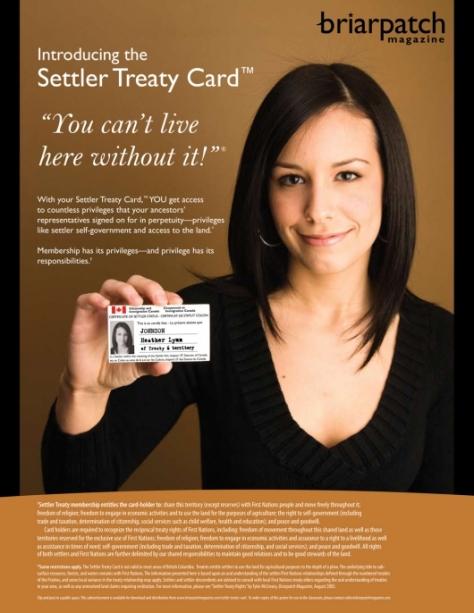 Settler treaty card