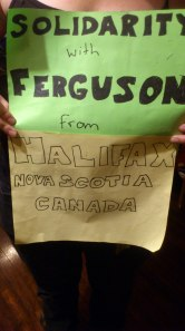 Ferguson solidarity signs