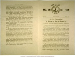"1924 ""Racial Integrity Act""  of Virginia, which reads in part: ""For the purpose of this act, the term ""white person"" shall apply only to the person who has no trace whatsoever of any blood other than Caucasian; but persons who have one-sixteenth or less of the blood of the American Indian and have no other non-Caucasic blood shall be deemed to be white persons."""